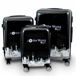 KOMPLET ZESTAW WALIZEK 3 SZT BERWIN FLY THE WORLD WALIZKI XL+L+M